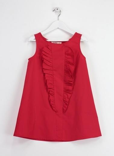 Morhipo Kids Fırfırlı Elbise Kırmızı